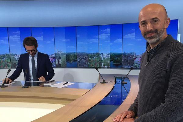 Stéphane Ché, maire d'Ambazac, sur le plateau du 12/13 Limousin