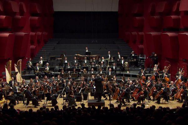 Concert donné au palais de la Musique et des Congrès de Strasbourg