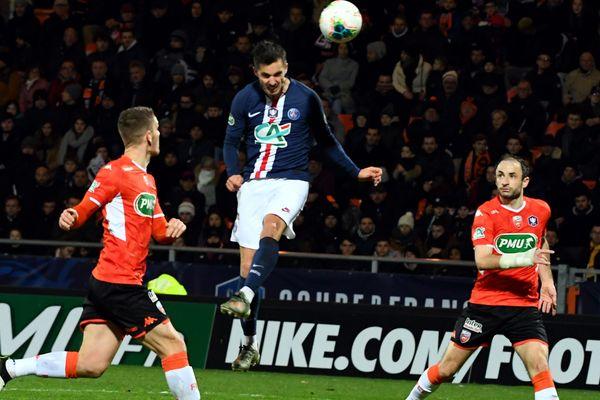 16eme de finale de coupe de France : le but parisien de Sarabia face à Lorient.