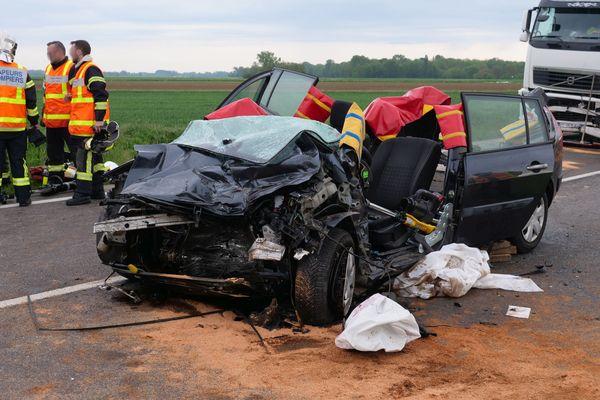 Accident sur la RD4 jeudi 13 mai.