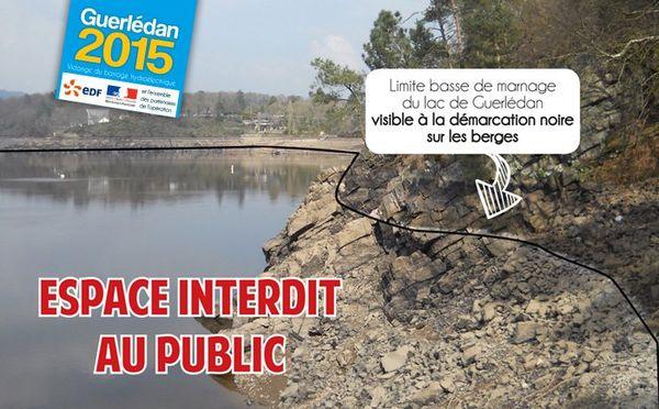 Secteur interdit sur le lac de Guerlédan pendant la vidange