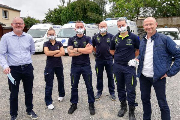 Les ambulanciers de Triskell à Ploërmel, équipés du masque Neeobreath