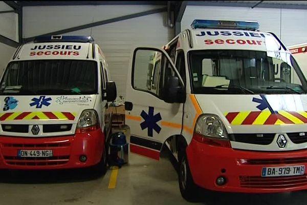Les ambulanciers du Jura en grève