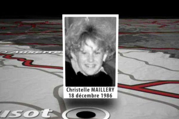 Christelle Maillery, tuée d'une trentaine de coups de couteaux le 18 décembre 1986, au Creusot.