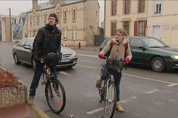 Guillaume et Hyacinthe Sampé, co-fondateurs de l'association Vélolove Montargis.