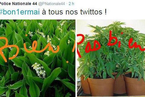 La police de Loire-Atlantique a posté sur Twitter ces images, vendredi 1er mai 2015
