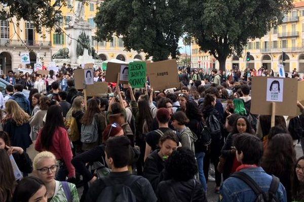 Place Garibaldi à Nice ce vendredi matin.