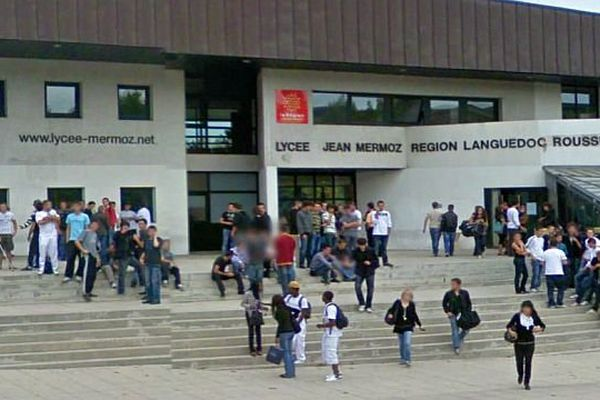 Montpellier - le lycée Mermoz - archives