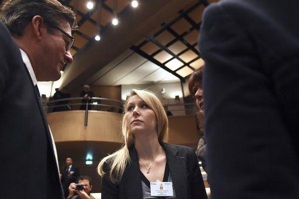Marion Maréchal-Le Pen lors de l'élection du président du Conseil régional de PACA en décembre 2015.