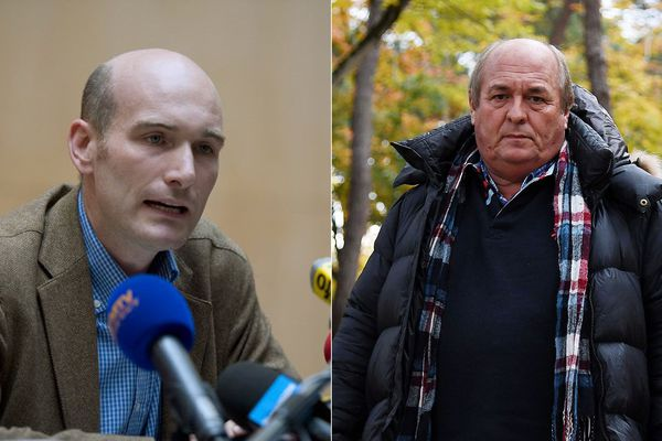 Le journaliste Nicolas Hénin (à gauche) et Patrick Jardin (à droite).