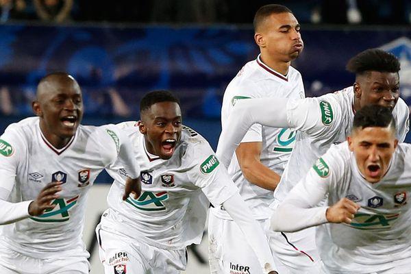 La joie des Malherbistes ce mardi soir en Corse. Le Stade Malherbe disputera cette année les quarts de finale de la Coupe de France.