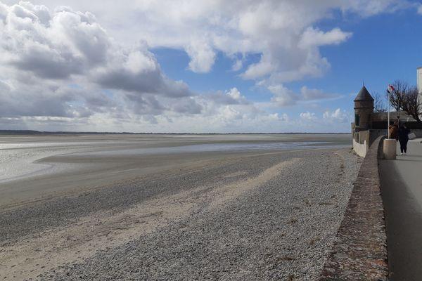 La plage du Crotoy, dans la Somme, est quasiment vide en ces vacances de Pâques 2021. Image d'illustration.
