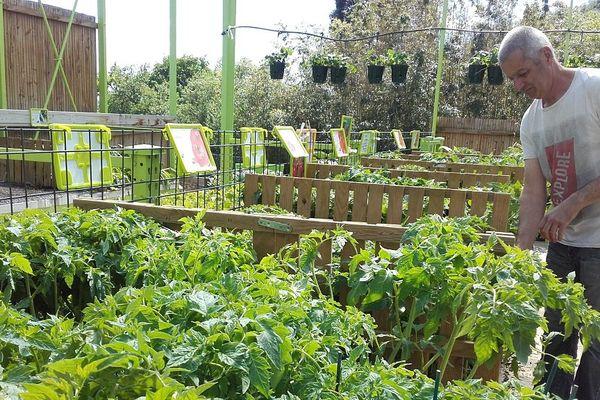 Philippe Bleys conseille ses clients sur les techniques de jardinage, c'est le moment de planter ses tomates