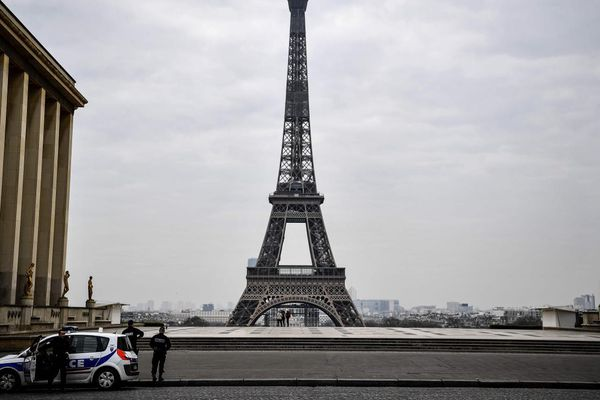 La Tour Eiffel vue de la place (vide) du Trocadéro. Photo d'illustration AFP