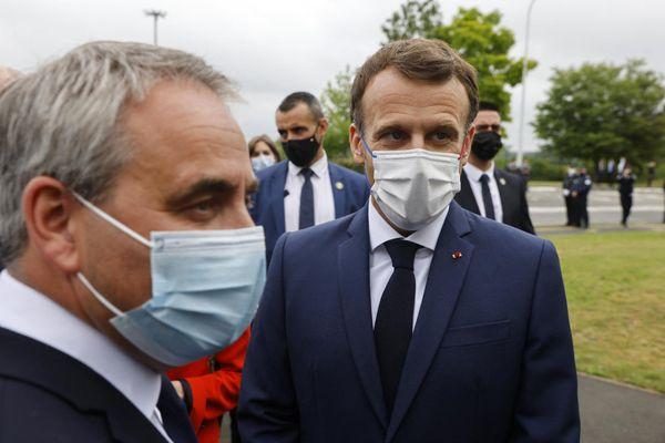 Emmanuel Macron et Xavier Bertrand se sont rencontrés lundi 28 juin à Douai dans le Nord.