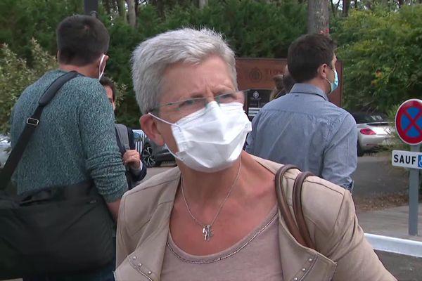 Geneviève Darrieussecq est arrivée à Biscarrosse dans les Landes pour les journées parlementaires du MoDem