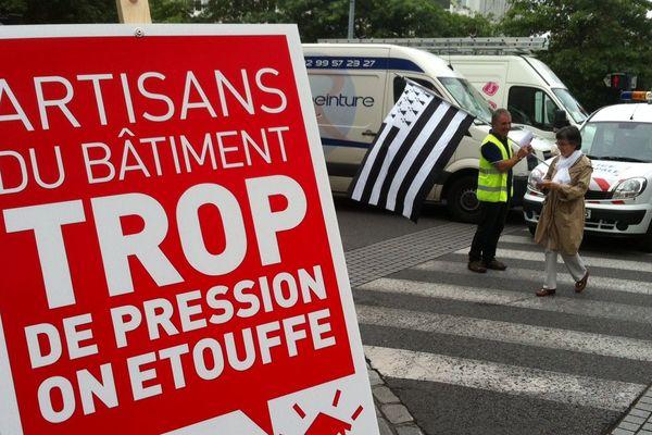 Les artisans manifestent à Rennes
