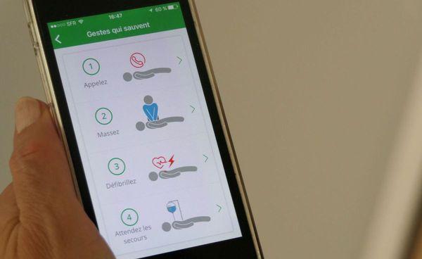 L'application Staying Alive rappellent quels sont les gestes qui sauvent