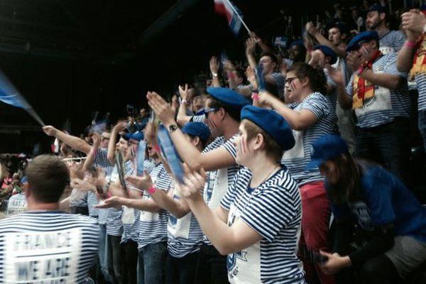 Les supporters de l'équipe de France ce samedi au Palais des sports de Marseille