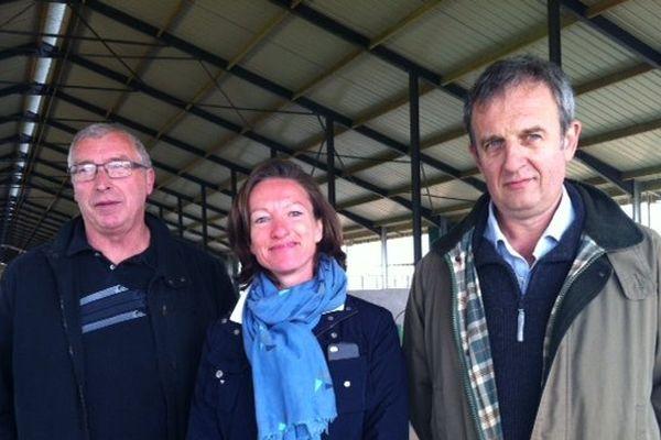 Trois des associés au projet