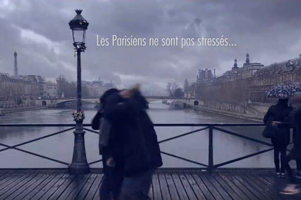Capture d'écran du clip de France 3 pour le 40ème marathon de Paris.