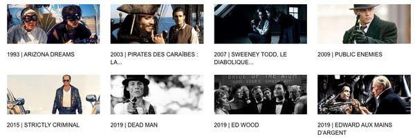 festival de Deauville filmographie de Johnny Depp