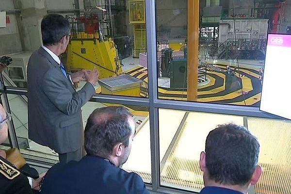 Marcoule (Gard) - le Secrétaire d'Etat à la transition écologique visite le site nucléaire Phénix - 26 avril 2018.