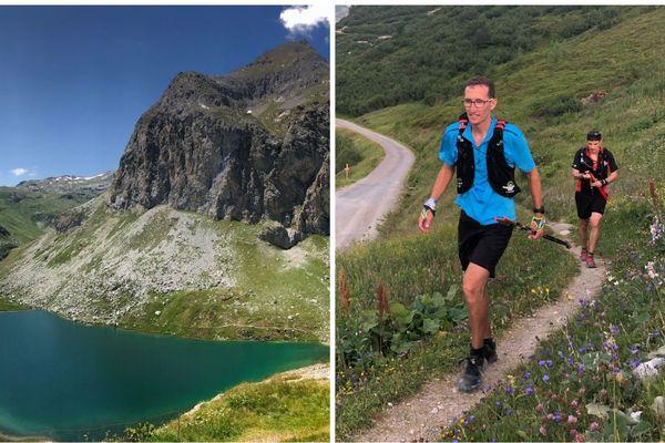 Romain Sophys, trailer de 38 ans, a battu le record de la traversée des Alpes en courant.