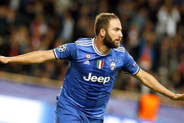 Gonzalo Higuan de la Juventus de Turin ce mercredi soir à Monaco
