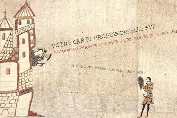 De faux éboueurs sévissent actuellement à Orléans - Tapisserie humoristique d'illustration