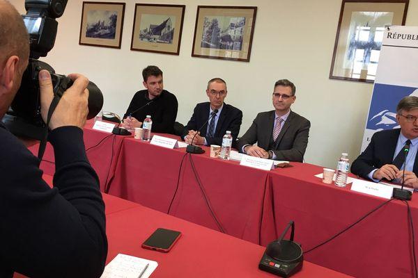 Patrick Dallennes, le préfet de la Sarthe fait le point sur le coronavirus, le 6 mars 2020, au Mans