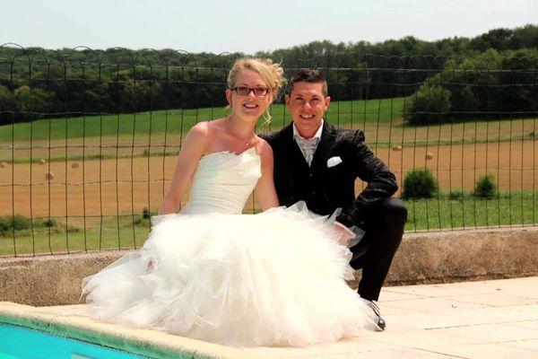 Alexia Daval et son mari Jonathann lors de leur mariage.