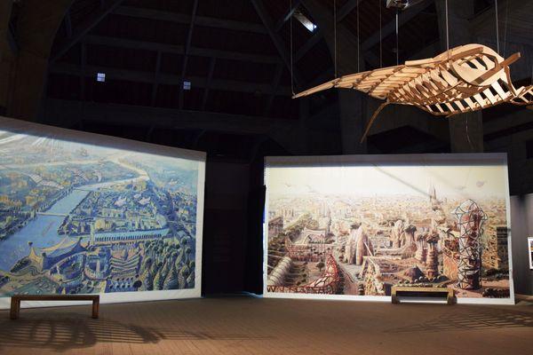 """L'exposition """"Les panoramas 2100"""" donne la vision de la ville de demain de Luc Schuiten"""