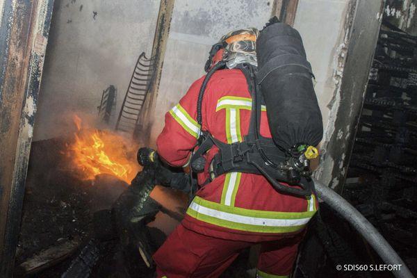 L'intervention des pompiers a eut lieu dans la nuit du vendredi 26 au samedi 27 février