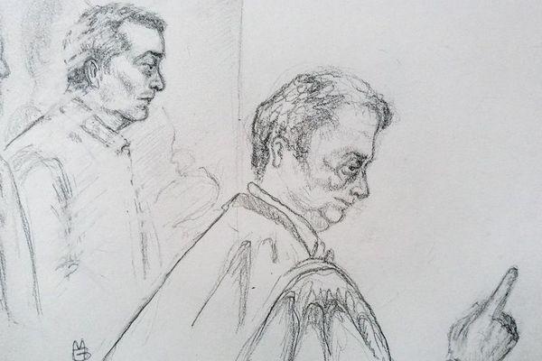 Laurent Dejean et son avocat Guy Debuisson.