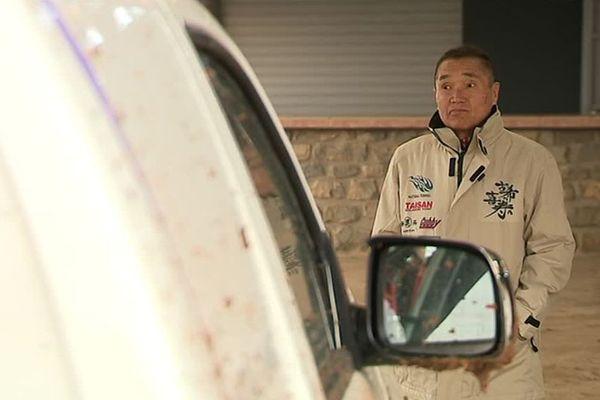 Le pilote nippon s'entraîne en ce moment dans le Gard avec sa copilote. Leur objectif : l'AfricaEcoRace.