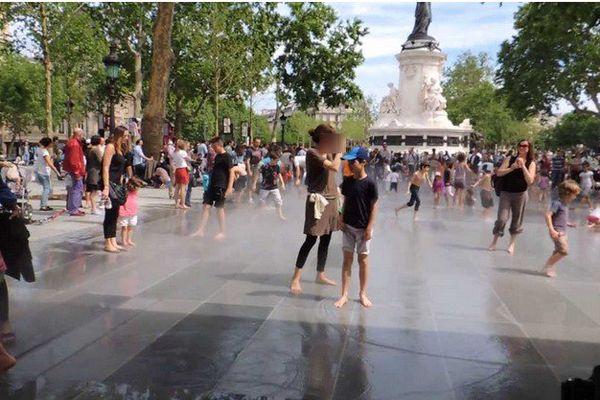 Place de la République : le miroir d'eau