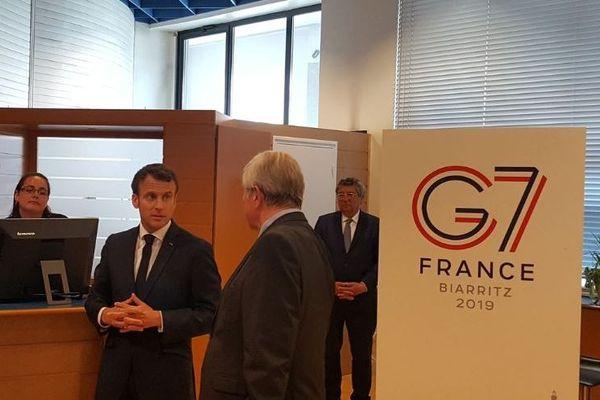 Emmanuel Macron était à Biarritz ce vendredi en vue des préparatifs pour le G7