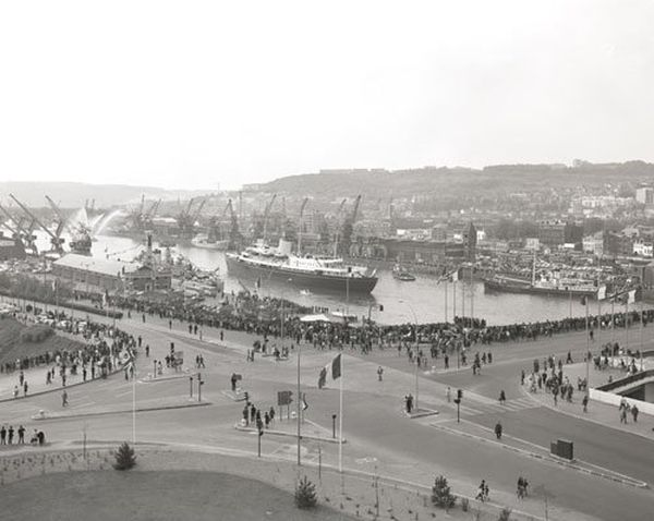 Le yacht Britannia à Rouen