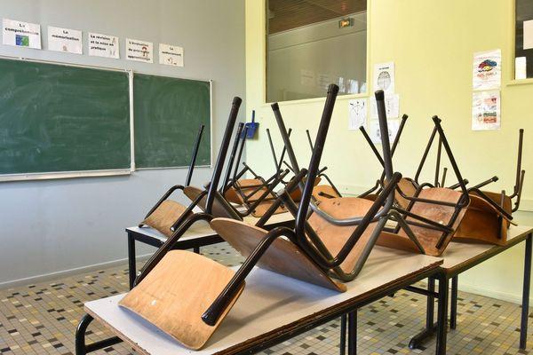Illustration : certaines élèves ne retrouveront pas leur salle de classe le 11 mai.