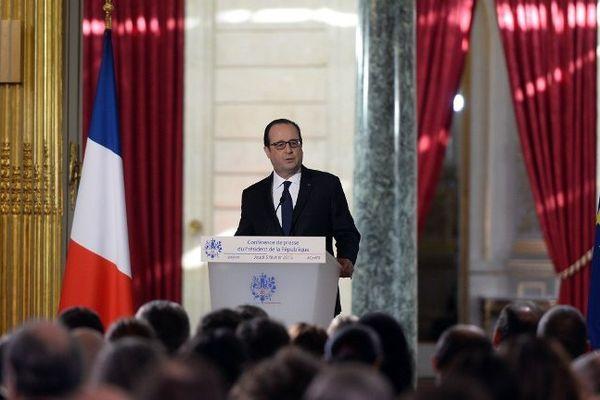 François Hollande face à la presse pour la 5e fois de son quinquennat.