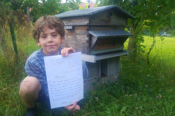 Jacques 7 ans a écrit une lettre touchante au président de la République, Emmanuel Macron, contre les pesticides.