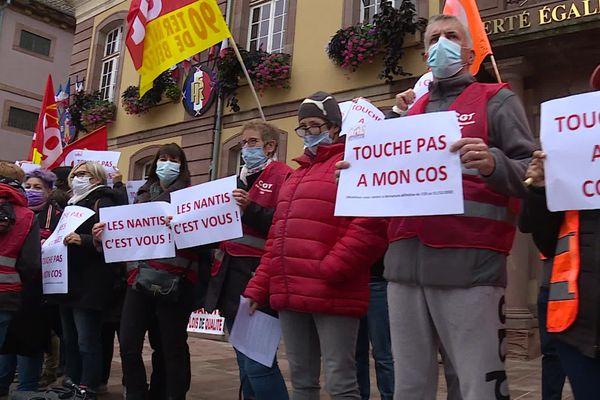 Manifestation des agents de la ville de Belfort et de l'agglo, lundi 28 septembre