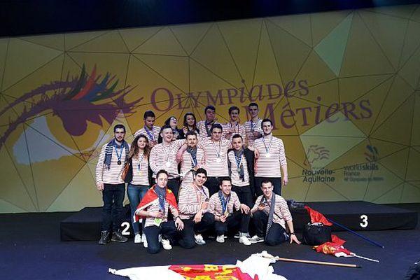 Les médaillés normands de la finale nationale des 44ème Olympiades des métiers