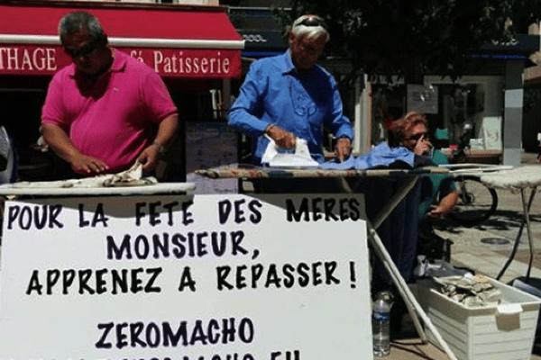 Des hommes en train de repasser dans les rues de Toulon, pour l'opération menée en 2014. (Photo d'archive)