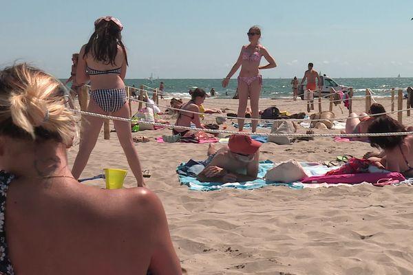 Pour le long week-end de la Pentecôte la plage statique du couchant est réservée aux personnels soignants.