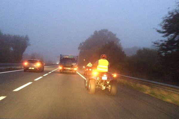 Premiers ralentissements ce matin à 7h30 au niveau du rond-point de la Croisière sur l'A20 en Creuse.