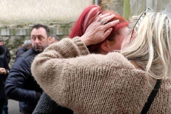 La foule aux obsèques des victimes des attaques de Carcassonne et Trèbes - 29 mars 2018.