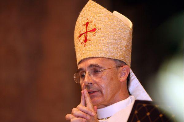 Monseigneur Robert Le Gall, archevêque de Toulouse, le jour de la cérémonie de l'ordination épiscopale.