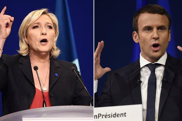 Marine Le Pen et Emmanuel Macron : les vainqueurs du 1er tour de l'élection présidentielle.